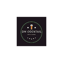logotipo da DM Cocktails